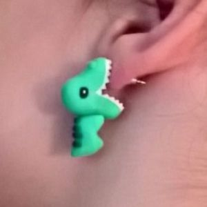 Jewelry - Homemade Polymer Dinosaur Earrings